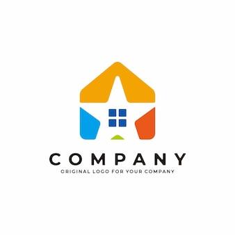 Logotipo da casa com um conceito minimalista combinado com o símbolo de uma estrela