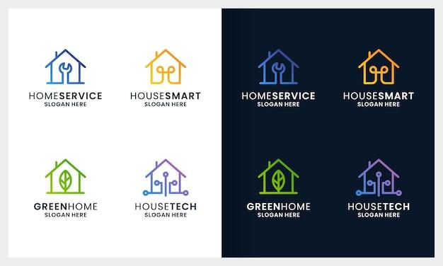 Logotipo da casa criativa casa colorida e moderna
