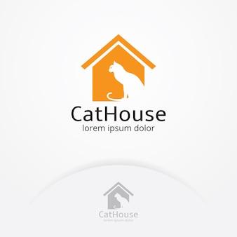Logotipo da casa de gato
