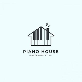 Logotipo da casa de piano