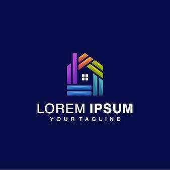 Logotipo da casa gradiente