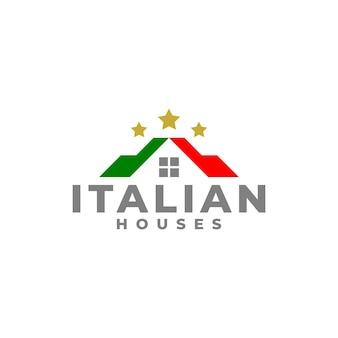 Logotipo da casa italiana para empresa de negócios imobiliários.