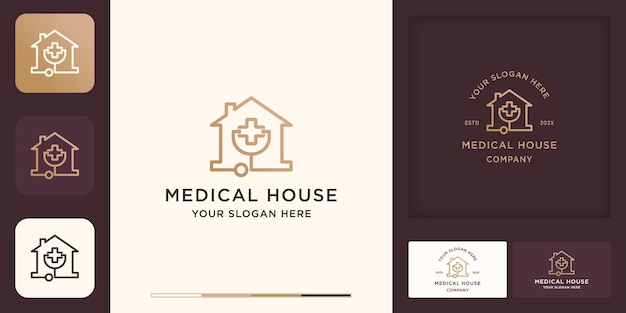 Logotipo da casa médica e cartão de visita
