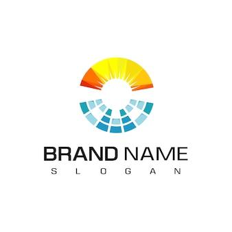 Logotipo da célula solar