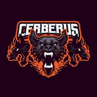 Logotipo da cerberus mascot para esportes e equipe de esportes