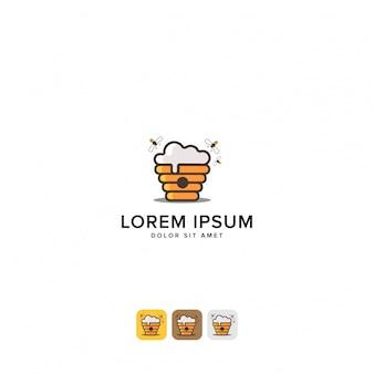 Logotipo da cerveja de mel