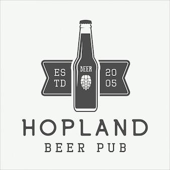 Logotipo da cerveja, emblema