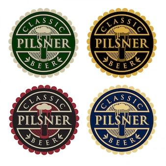 Logotipo da cerveja pilsner