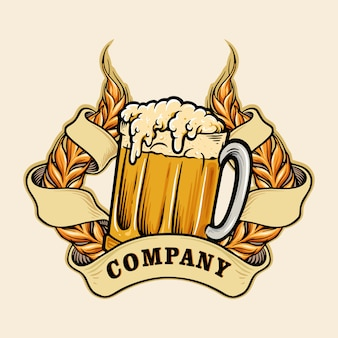 Logotipo da cerveja wheats a glass