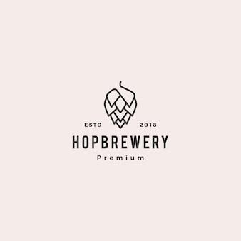 Logotipo da cervejaria hop brew