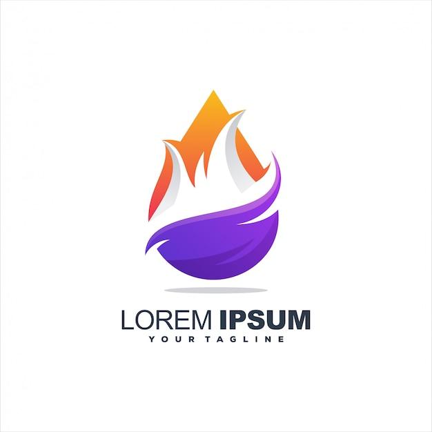 Logotipo da chama abstrata