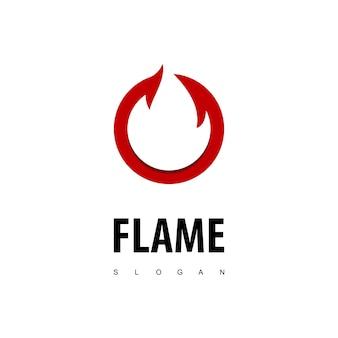 Logotipo da chama do círculo