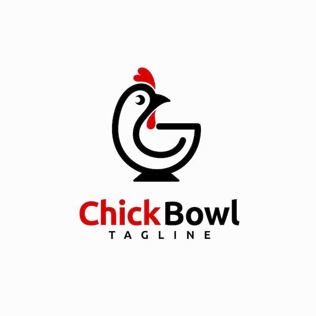 Logotipo da chick com tigela