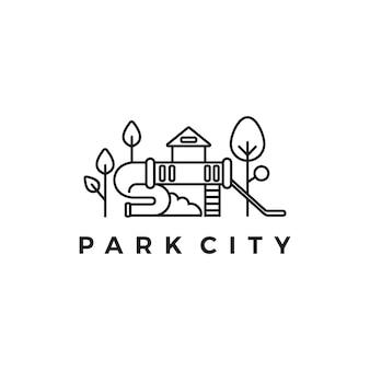 Logotipo da cidade do parque