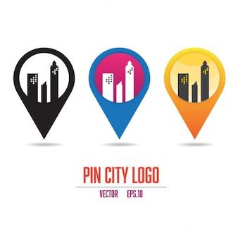 Logotipo da cidade pin