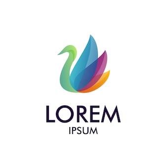 Logotipo da cisne de beleza