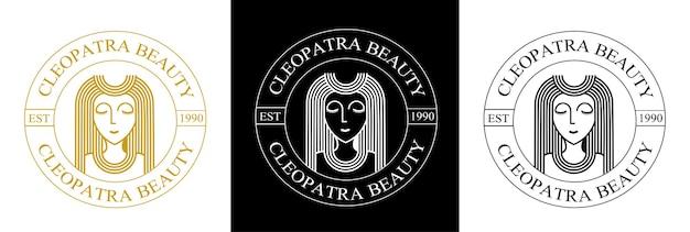 Logotipo da cleópatra Vetor Premium