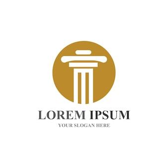 Logotipo da coluna e modelo de vetor de símbolo
