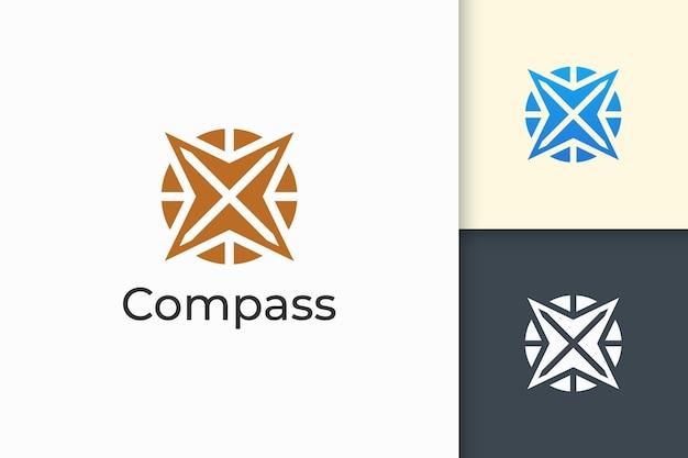 Logotipo da compass em formato moderno e abstrato para empresa de tecnologia