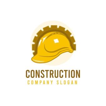Logotipo da construção da escavadeira Vetor Premium