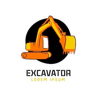 Logotipo da construção exacavator