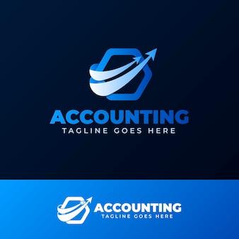 Logotipo da contabilidade gradiente
