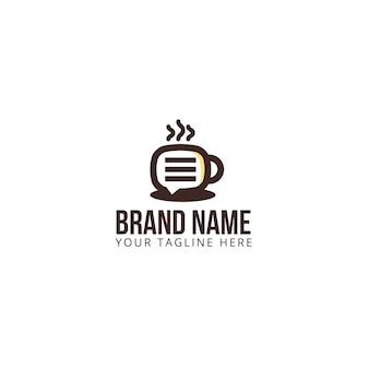 Logotipo da conversa do café