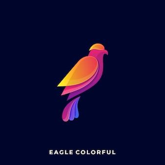Logotipo da cor da águia
