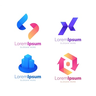 Logotipo da cor x logotipo completo edifício logotipo construção