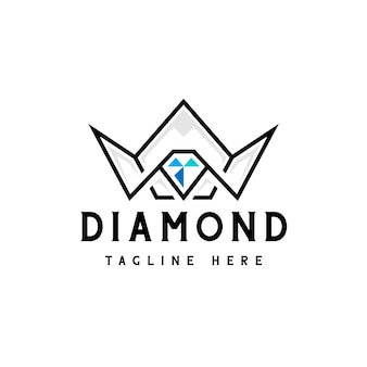 Logotipo da coroa de diamante