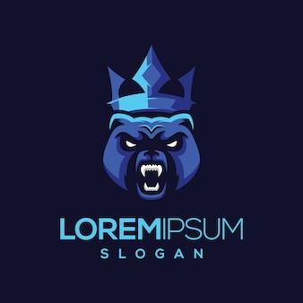 Logotipo da coroa do urso