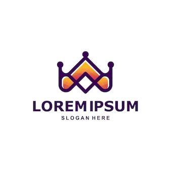 Logotipo da coroa premium