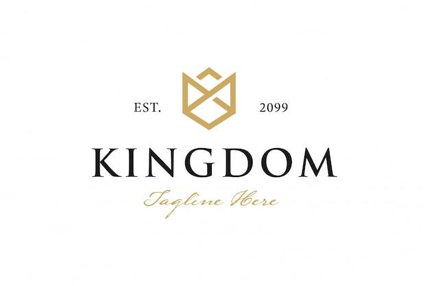 Logotipo da coroa vintage