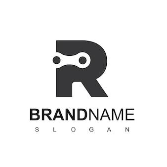 Logotipo da corrente da letra r