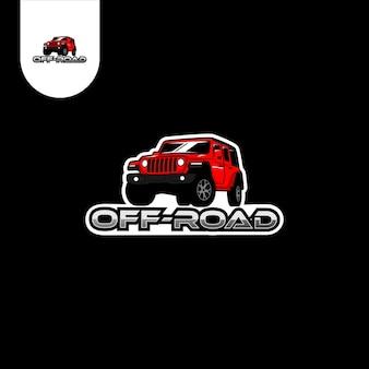 Logotipo da corrida de carros offroad
