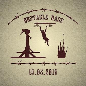 Logotipo da corrida de obstáculos