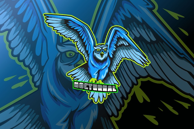 Logotipo da coruja para modelo de clube ou time esportivo