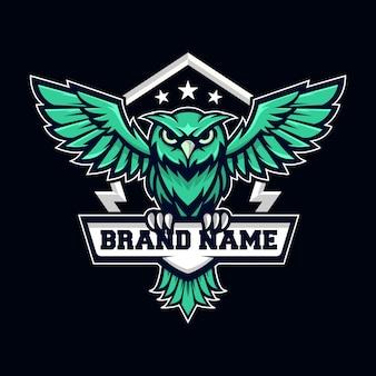Logotipo da coruja voadora