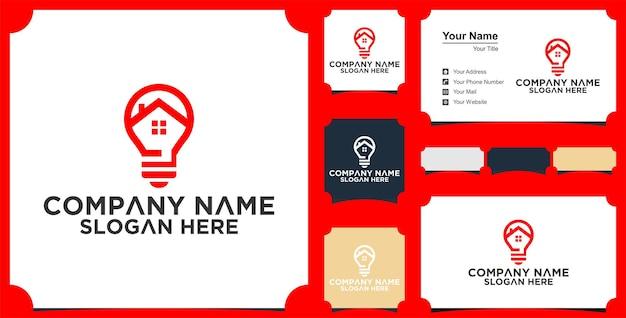 Logotipo da creative bulb city e cartão de visita