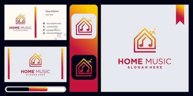 Logotipo da creative music house monoline logotipo da music house studio