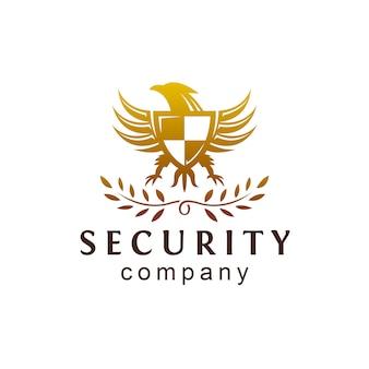 Logotipo da crista da segurança de eagle