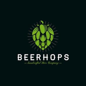 Logotipo da crista dos lúpulos da cerveja
