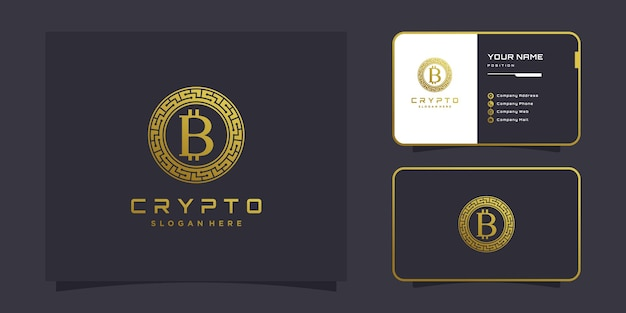 Logotipo da crypto com conceito criativo moderno premium vector