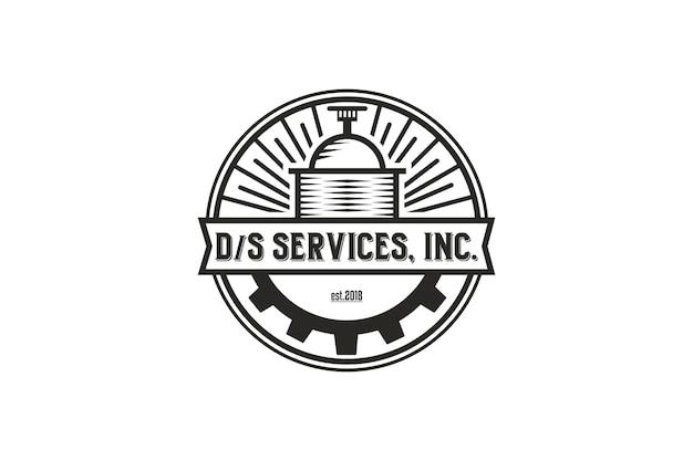 Logotipo da destilaria e estilo de linha