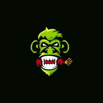 Logotipo da dinamite do macaco