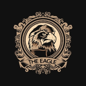 Logotipo da eagle com estilo vintage