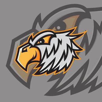 Logotipo da eagle mascot esport