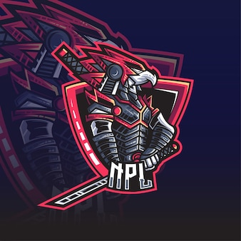 Logotipo da eagle samurai esport