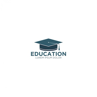 Logotipo da educação - chapéu da toga