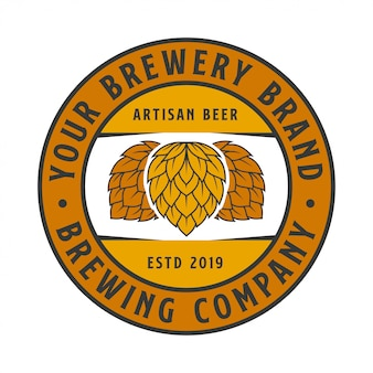 Logotipo da empresa brewing label
